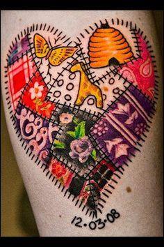 39 best Quilt Tattoo images on Pinterest | Tattoo ideas, Body mods ... : temporary quilt tattoos - Adamdwight.com