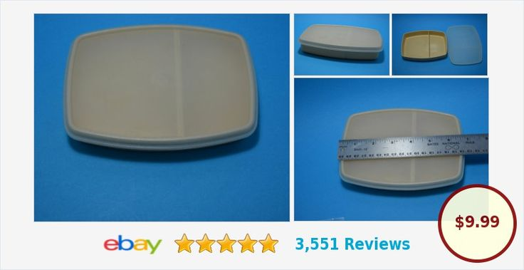 Tupperware Packette Creamy golden Beige 813-5 Divided Lunch Box Container | eBay
