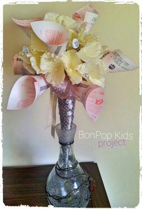 bouquet of lottery coupons bukiet na ślub z kuponów loTTo