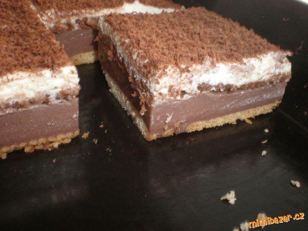 BE-BE řezy s čokoládou NEPEČENÉ, JEDNODUCHÉ A VÝBORNÉ!!!!!!