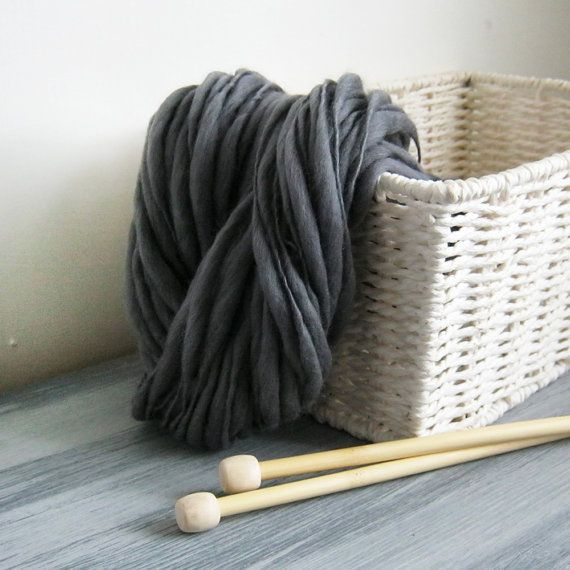 I just love this colour! Its a rich steely pewter grey and I just knew it would be great as a thick and thin yarn. I hand spin all of my yarns the