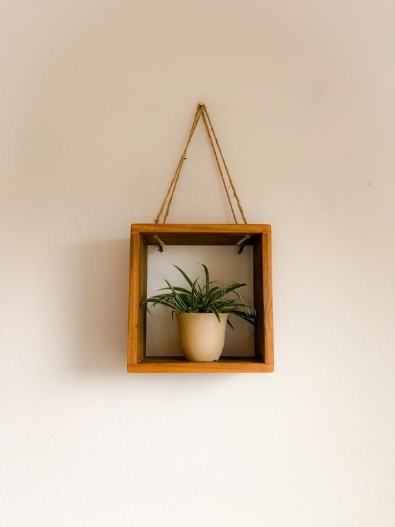 Floating Shelf, Rope Shelf, Plant Shelf