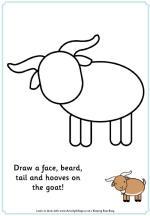 Maak het plaatje compleet geit