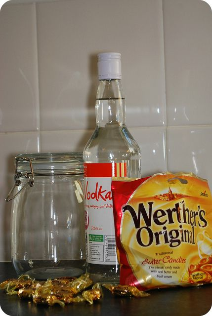 great gift for dads to make or to make for dads how to make toffee vodka by Rosalilium, via Flickr