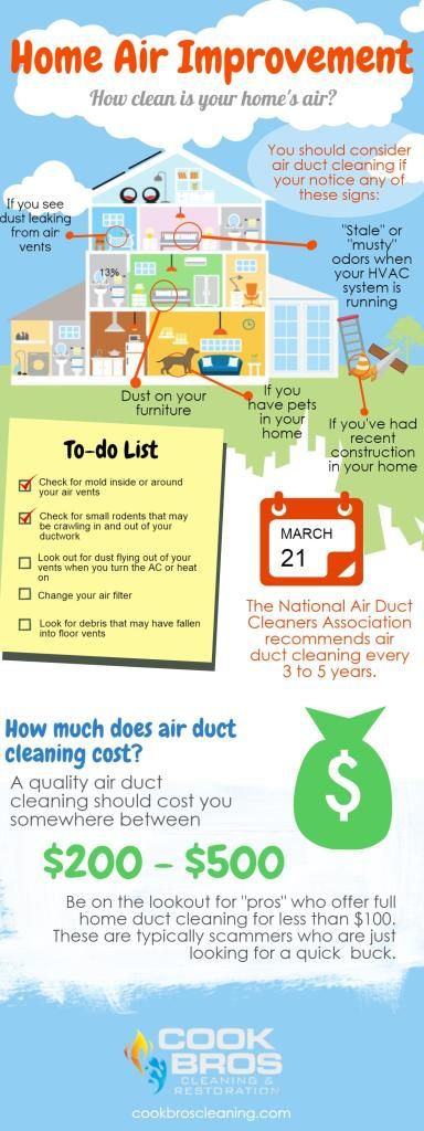 Does your home need its air ducts cleaned. Check out this infographic explaining what to look for when deciding if your home needs air duct cleaning.