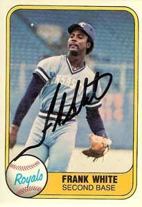 Frank White Baseball Stats By Baseball Almanac Royals Baseball Kansas City Royals Baseball Kc Royals
