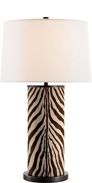 Ralph Lauren Brown Zebra Leather Lamp Sharing & Inspiring Hollywood Interior Design Fans With Tips & Ideas, Courtesy of InStyle-Decor.com Beverly Hills, Enjoy