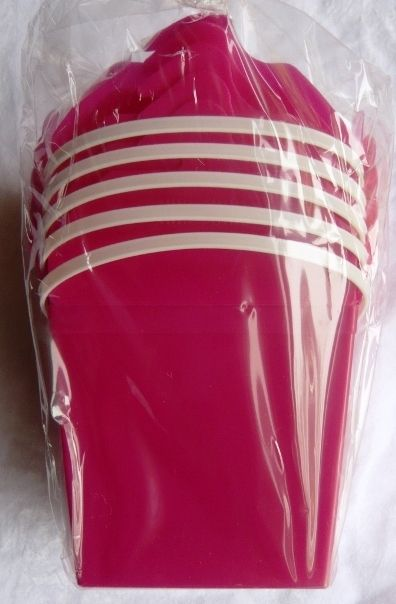 Pink Plastic Noodle Box Food Pail Loot Lolly Box