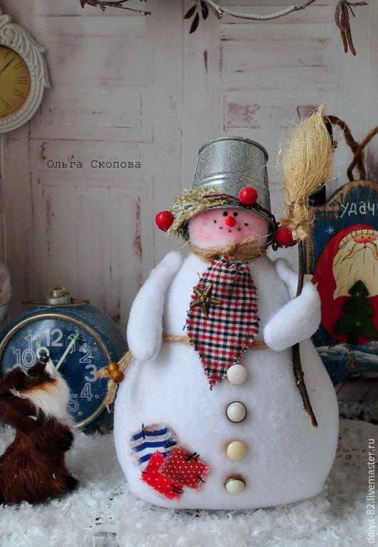 Купить Копия работы Снеговик- лучший новогодний подарок. Тильда снеговик. - снеговичок, снеговик тильда