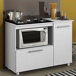 movel com cooktop e espaco para microondas