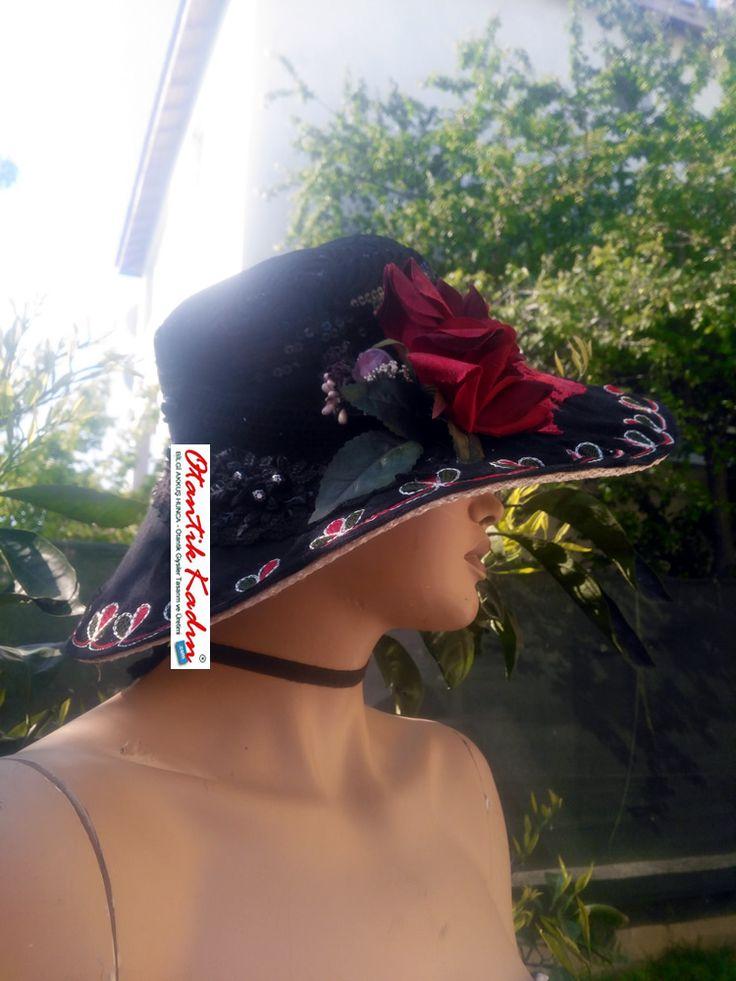 Yazlık İşlemeli Tasarım Siyah Şapka - 140417-2 | Otantik Kadın, Otantik Giysiler, Elbiseler,Bohem giyim, Etnik Giysiler, Kıyafetler, Pançolar, kışlık Şalvarlar, Şalvarlar,Etekler, Çantalar,şapka,Takılar