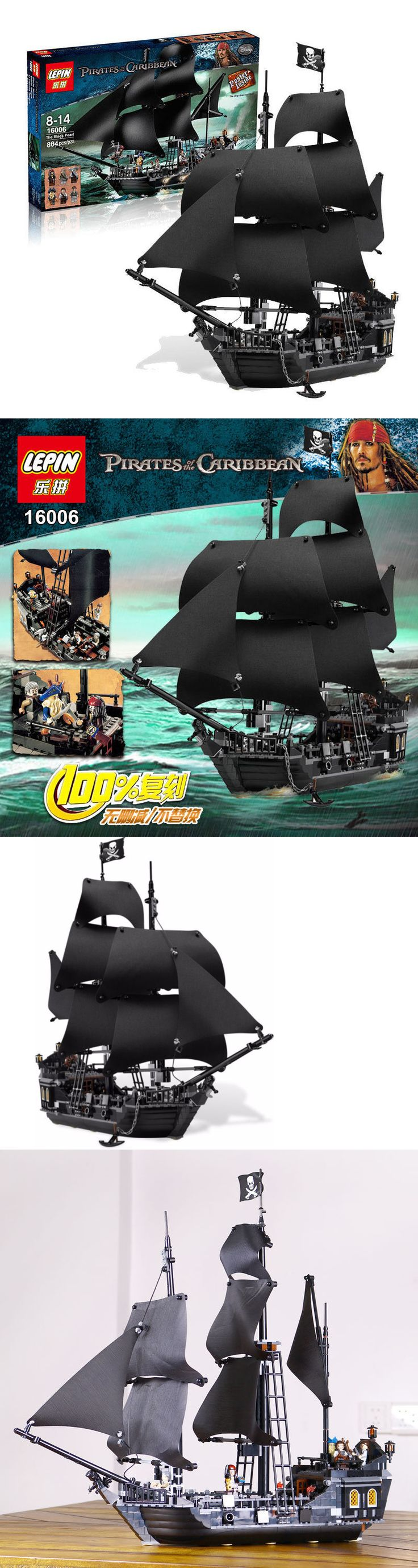 Blocks 18992: The Black Pearl Ship 809Pcs Pirates Of The Caribbean 4184 Lego Compatible 16006 -> BUY IT NOW ONLY: $59.99 on eBay!