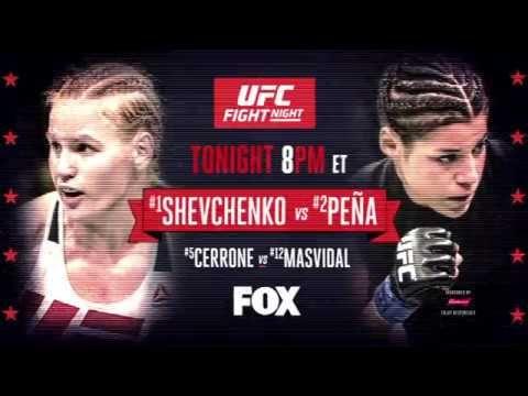 MMA UFC Fight Night: Shevchenko vs Pena - Tonight