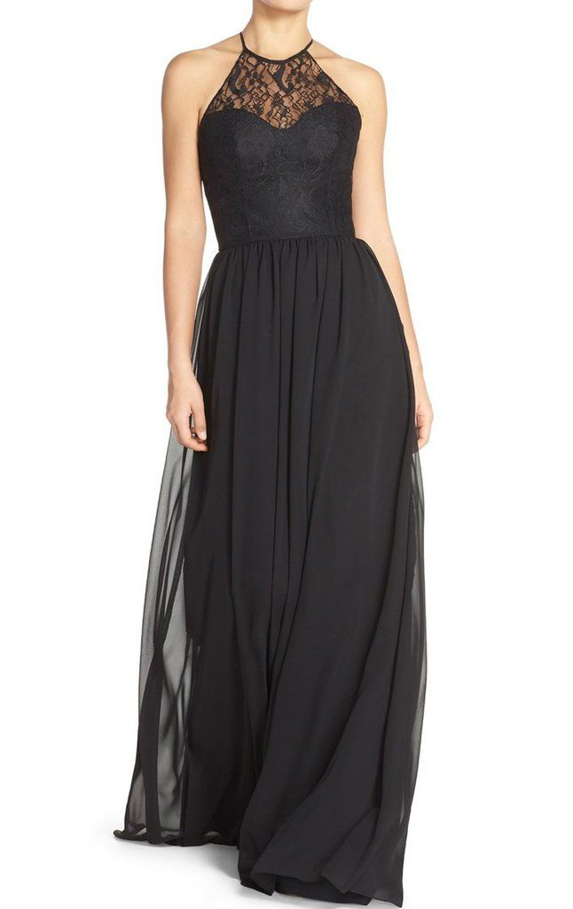 17 Best ideas about Long Black Bridesmaid Dresses on Pinterest ...