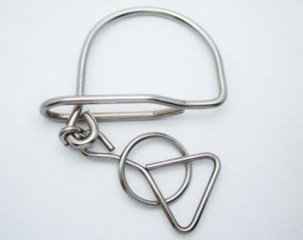 Wire Metal Puzzle by GiftforSoul on Etsy