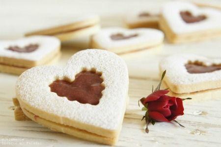 Galletas linzer San Valentín. Receta