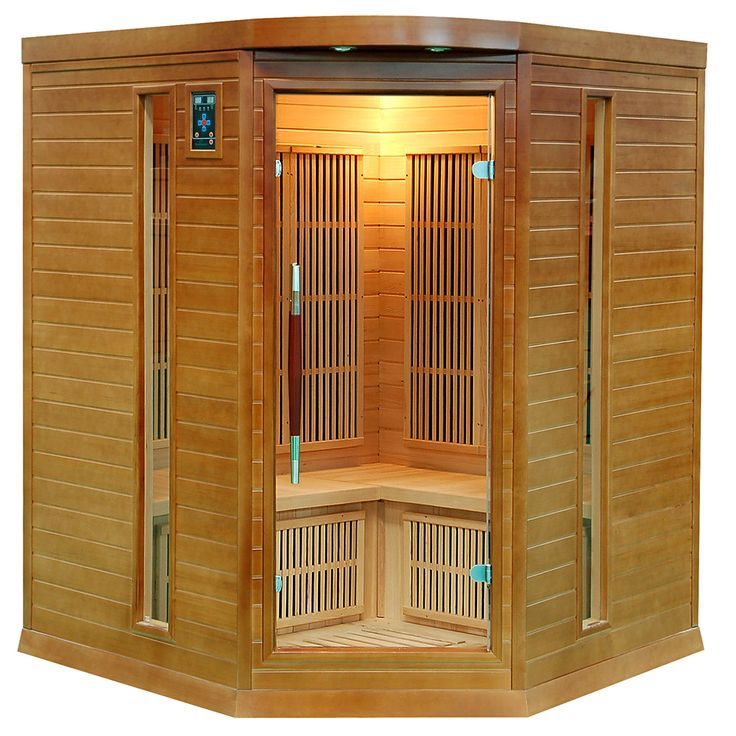 Sauna narożna z drewna jodły kanadyjskiej dla 4 osób, energooszczędna, radiem i jonizatorem...