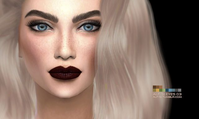 Sims 4 CC's - The Best: Eyebrows & Eyes by Alf-si