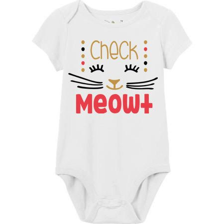 Check Meowt T Shirt - Little Girls Shirt - Infant Bodysuit - Toddler T Shirt - Raglan T Shirt - Cat Shirt - Gift for baby - Gift for Mom by AMKCREATES on Etsy