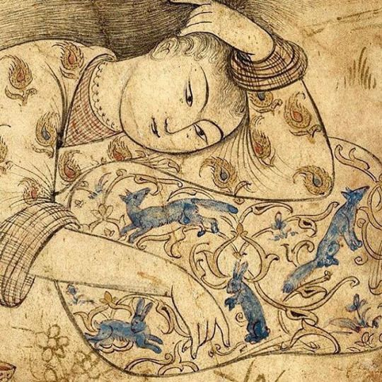 iranian(persia) miniature safavid hangover