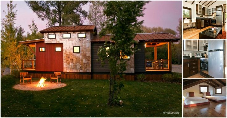 The Caboose model by Wheelhaus Tiny Houses was designed with the intent to suit any lifestyle imaginable. With a base price of $98,500, it may not suit every budget imaginable but it will definitely make someone happy! The home has 400 square feet with an extra 100 square feet in the loft room.