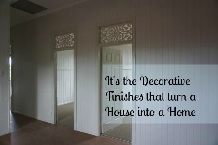 Finishes such as the decorative panels over the doorways of Queenslanders adds that personal touch. We found this design and had the panels made out of aluminium and powdercoated. They have a clear perspex behind them, this minimises the noise between rooms while maintaining the look. #decorativepanels #queenslanderrenovation