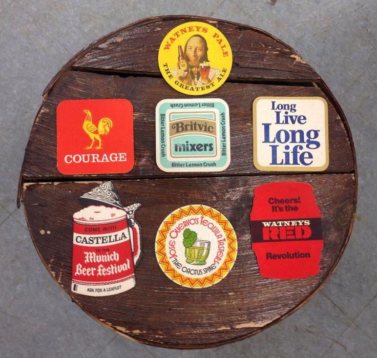 vintage beer coasters