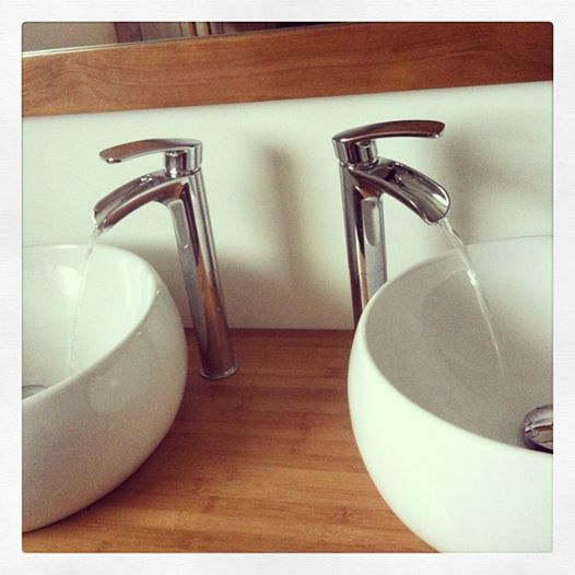 Notre salle de bain vasque meuble miroir alin a - Castorama mitigeur salle de bain ...