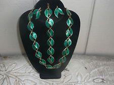 Vintage David Andersen Sterling  Enamel  22 inch  Necklace , bracelet ,earrings