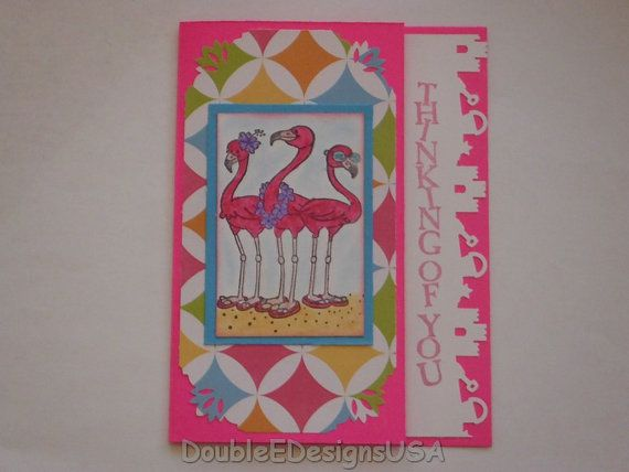 50 best my shop images on pinterest etsy shop craft cards and diy handmade thinking of you flamingo card by doubleedesignsusa 350 publicscrutiny Image collections