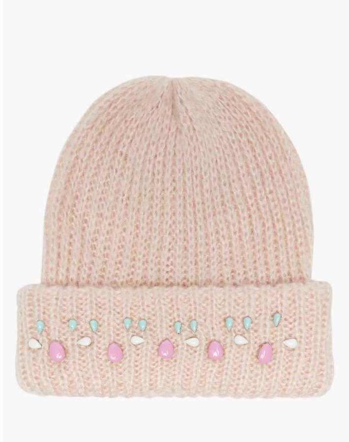 Pink Soda Embellished Beanie Hat on shopstyle.co.uk