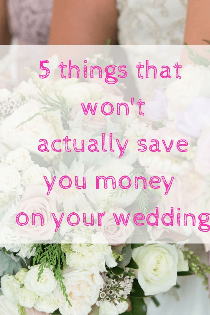 A wedding can be so expensive - here are 5 things that you might think will save you money - but actually won't. Should you hire suits? Find out here.