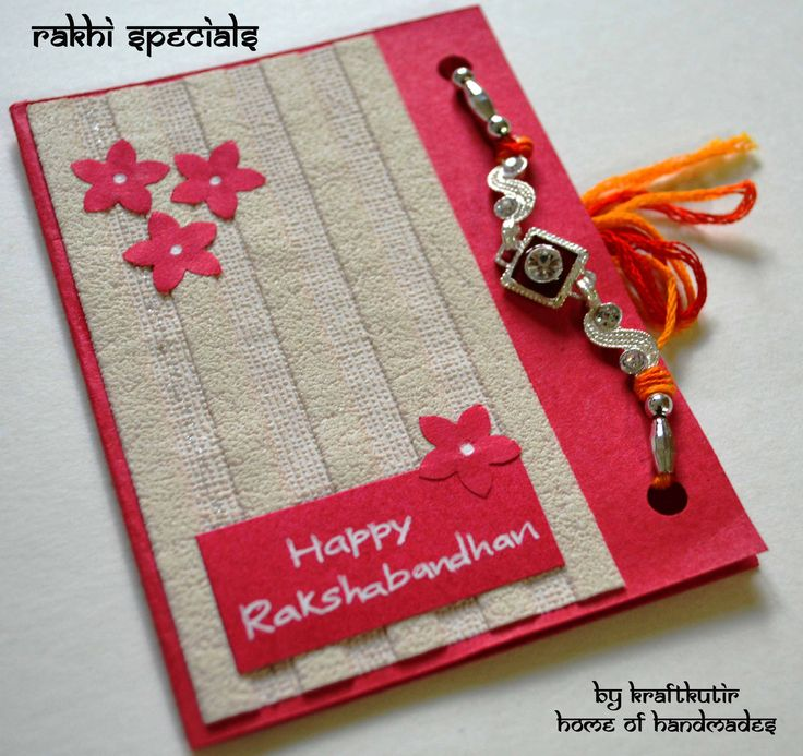 Wedding Gift Ideas For Elder Brother : Rakshabandhan cards with Rakhi :) Kraftkutirs Handmade products ...