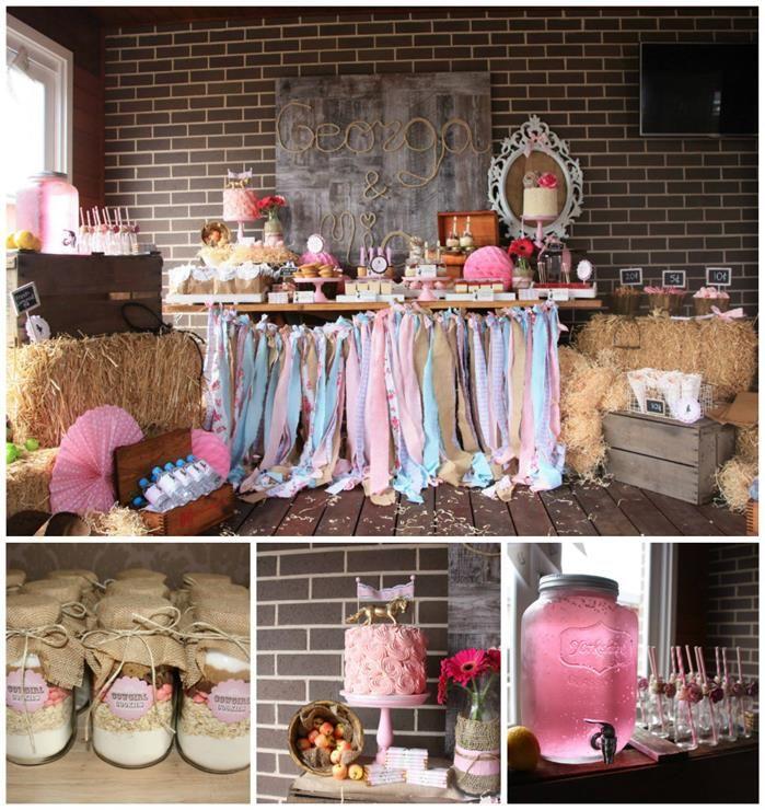 Vintage Cowgirl Party with SUCH CUTE IDEAS via Kara's Party Ideas | KarasPartyIdeas.