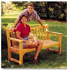 Ah! E se falando em madeira...: Projeto: +1 belo banco de jardim