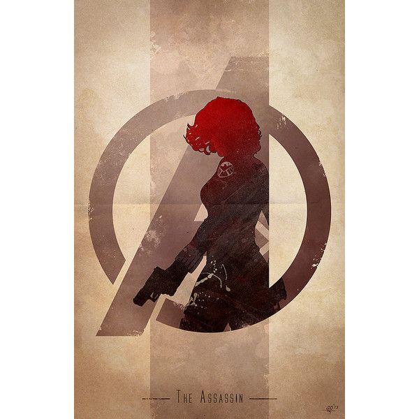AVENGERS Character Logo Art GeekTyrant ❤ liked on Polyvore