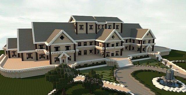 Luxury Mansion Minecraft Building Ideas House Design Minecraft