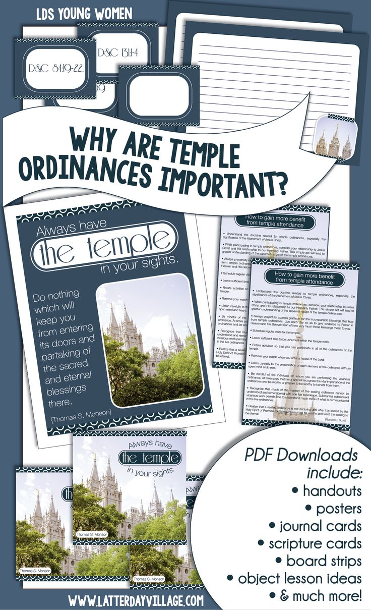 "LDS YOUNG WOMEN Come, Follow Me lesson helps for July Ordinances and Covenants ""WHY ARE TEMPLE ORDINANCES IMPORTANT"