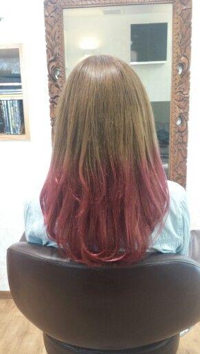#beigebrown#pink#dipdye#Haircolor#ベージュブラウン#ピンク#ディップダイ#ヘアカラー#ヘアスタイル#派手#かわいい#Hairsalon#Welina
