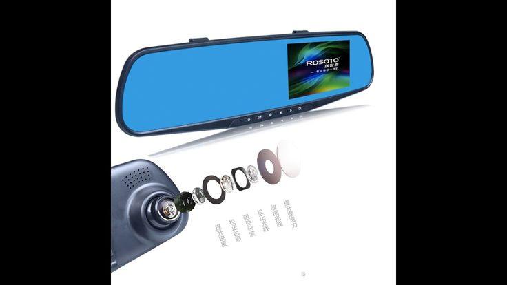 ลดราคา  CAR rear view mirror with camera กล้องติดรถยนต์ กระจกมองหลัง Ful...