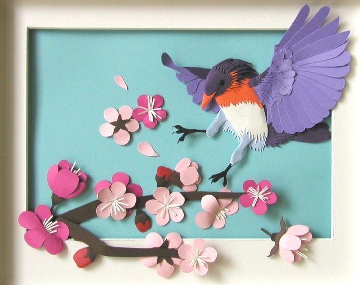 коллаж птицы из бумаги своими руками вечерних ресторанах, парижских