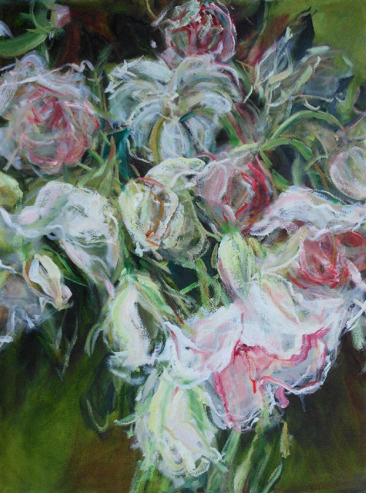 Jamie Evrard - Day Dream in Pinks and Greens