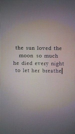 Love this quote, maybe a couples tattoo, with a Sun on him and a moon on me? by josie