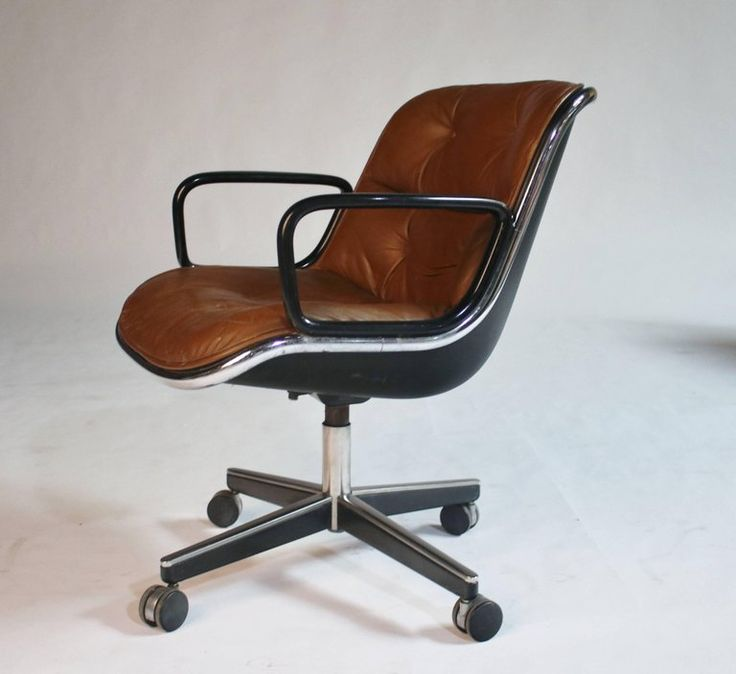 1970s Charles Pollack for Knoll Executive Desk Chair For Sale at 1stdibs
