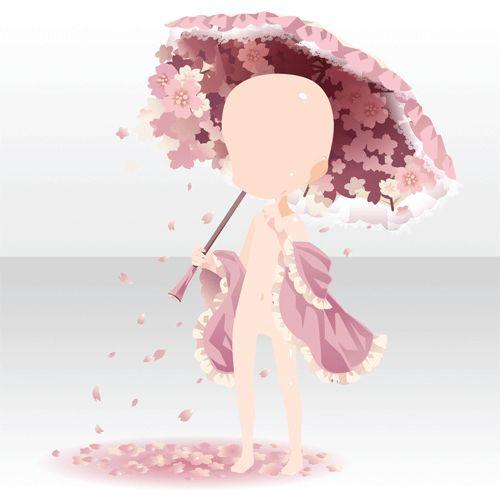 アクセサリ/ネックレス系 花咲きこぼれるブロッサムアンブレラ ピンク