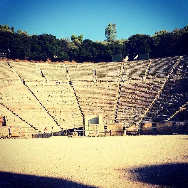 The ancient theater of Epidaurus Photo credits: @ippolito__86