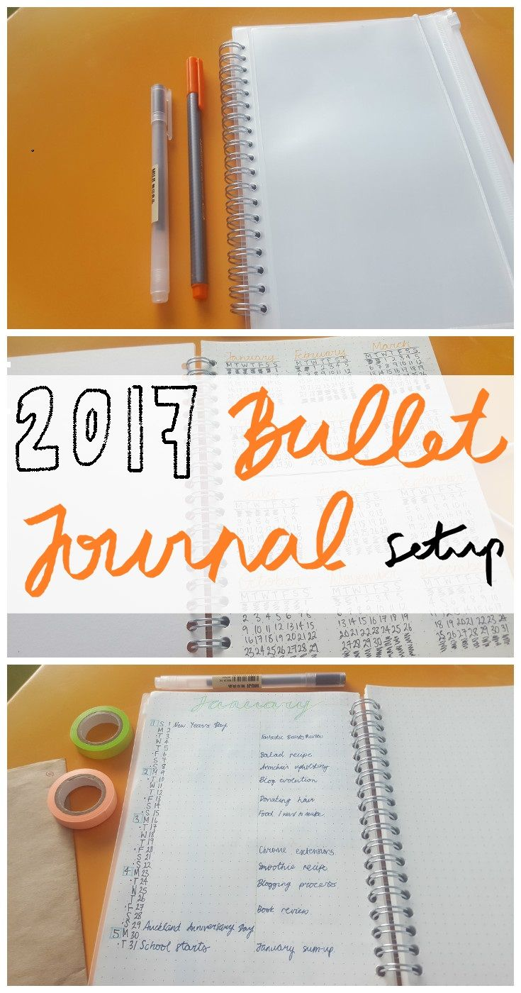 ZZANDH: Bullet Journal Setup For 2017