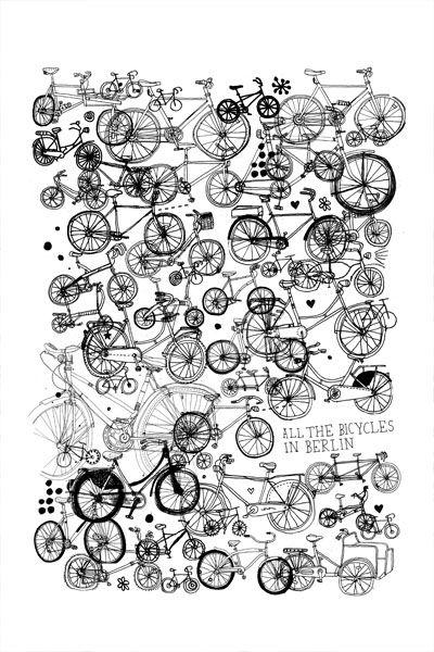 Bicycles + Illustration   James Gulliver Hancock