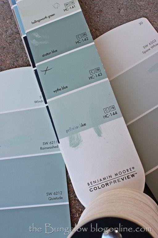wythe blue vs. palladian blue Benjamin Moore paint  (source: bungalowblog.com)