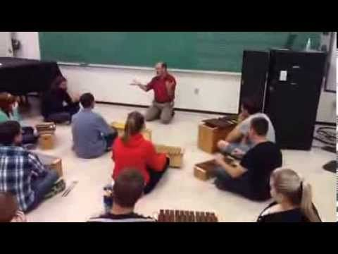 """""""Rocky Mountain""""—Orff instrument extension. Perhaps kids who were """"caught being good"""" at the beginning of class get a pass to play the few larger Orff instruments that I have."""